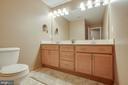 LL bathroom with double sinks - 51 FOUNTAIN DR, STAFFORD