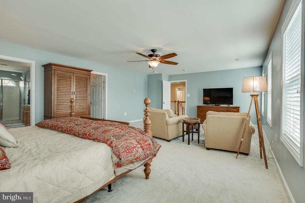 Master bedroom with sitting area - 51 FOUNTAIN DR, STAFFORD