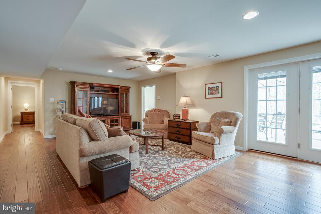 LL living/family  room, walkout to private patio - 51 FOUNTAIN DR, STAFFORD