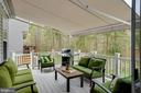 Main level Trex deck, motorized awning - 51 FOUNTAIN DR, STAFFORD