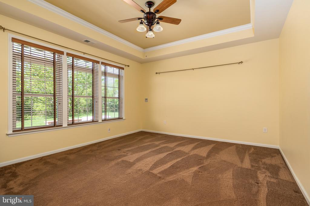 Master Bedroom with Tray Ceiling and Custom Blinds - 20579 CRESCENT POINTE PL, ASHBURN