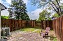 Fenced Yard with Patio - 14522 BLACK HORSE CT, CENTREVILLE