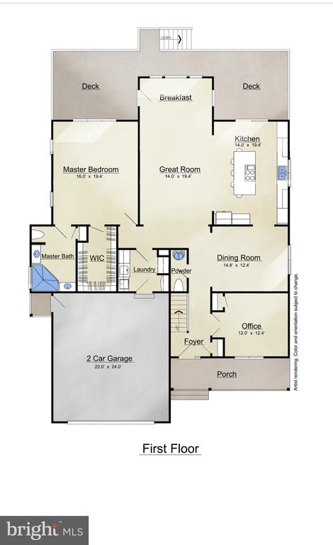 1st Floor Plan - 3810 LAKEVIEW PKWY, LOCUST GROVE