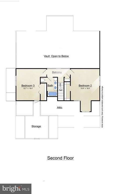 2nd Floor Plan - 3810 LAKEVIEW PKWY, LOCUST GROVE
