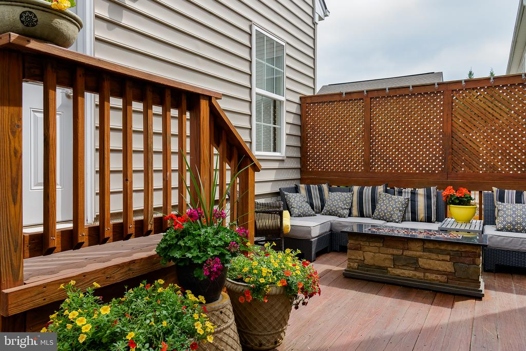 Rear Deck w Privacy Screen - 43168 ALEX ST, LEESBURG