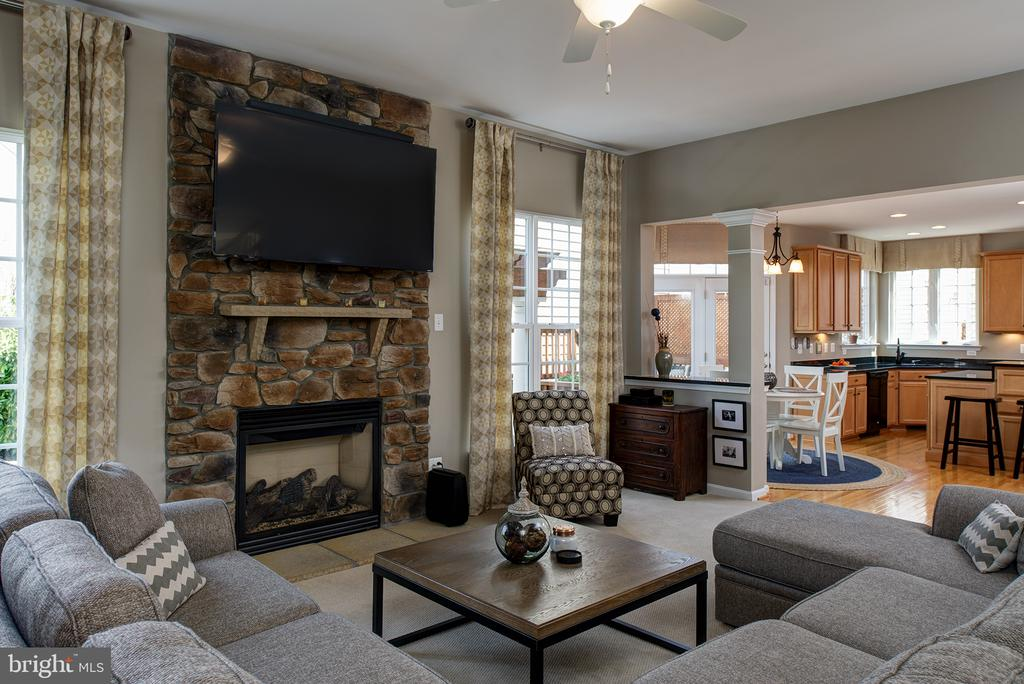 Family Rm w/ Floor to Ceiling Stone FP  & Mantle - 43168 ALEX ST, LEESBURG