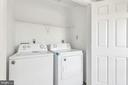 Convenient bdrm lvl laundry with new appliances - 610 COBBLER TER SE, LEESBURG