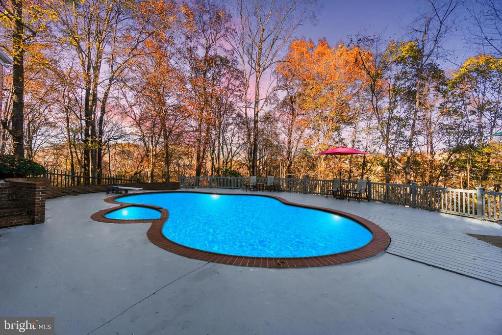 pool overlooking treetops and the river - 6103 RIVER RD, FREDERICKSBURG