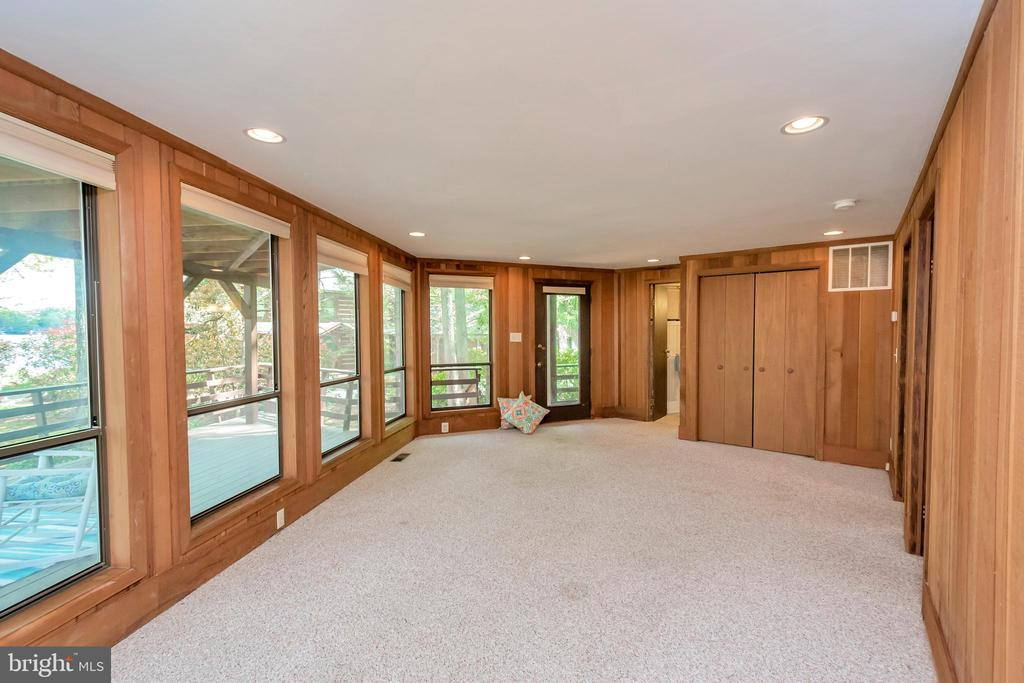 Lower Level Family Room Cedar Walls  VIEWS - 215 WAKEFIELD DR, LOCUST GROVE