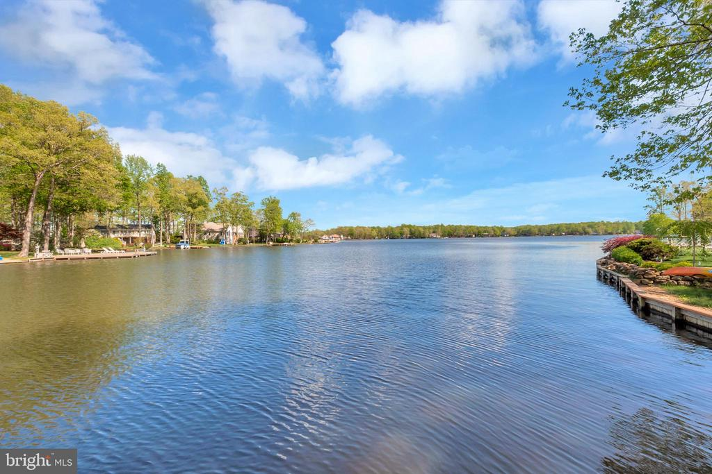 View from Dock looking out to main lake - 215 WAKEFIELD DR, LOCUST GROVE