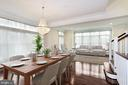 Dining /Living Room Combo w/High Ceilings - 5124 STRATHMORE AVE, NORTH BETHESDA