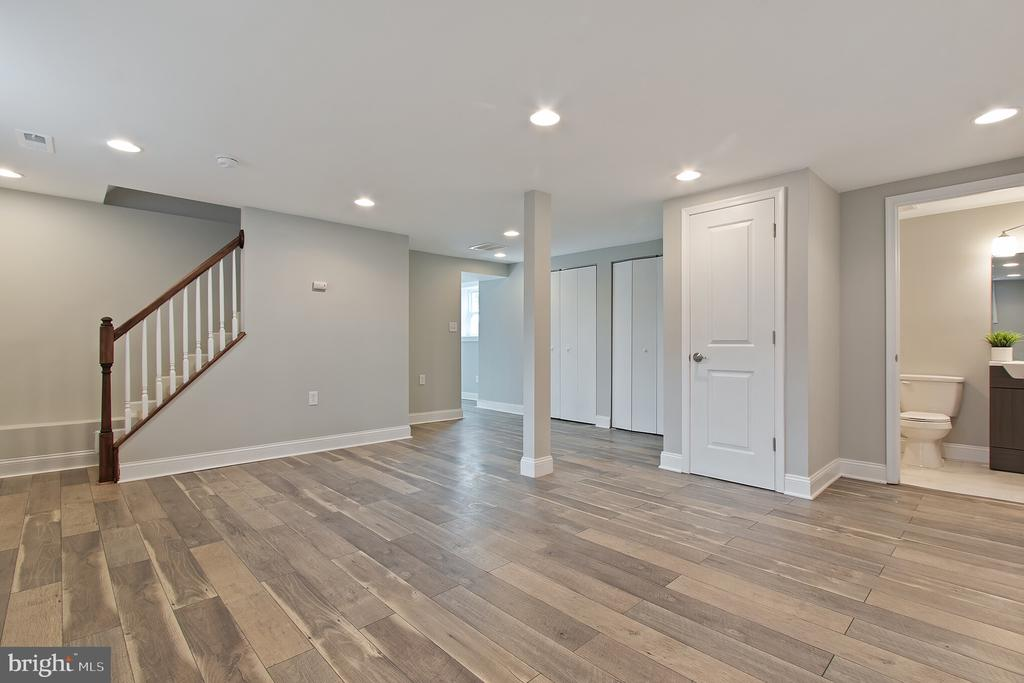 finished basement with full bath - 3006 ADAMS ST NE, WASHINGTON