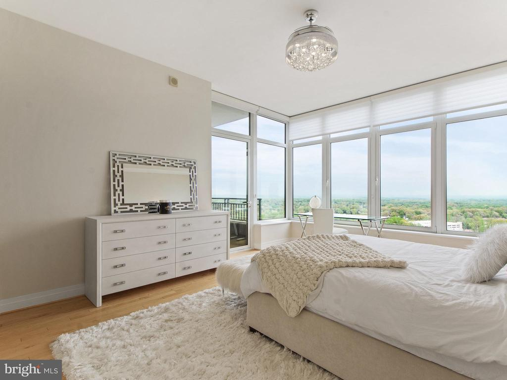 Large Master Suite with Direct access to balcony - 8220 CRESTWOOD HEIGHTS DR #1814, MCLEAN