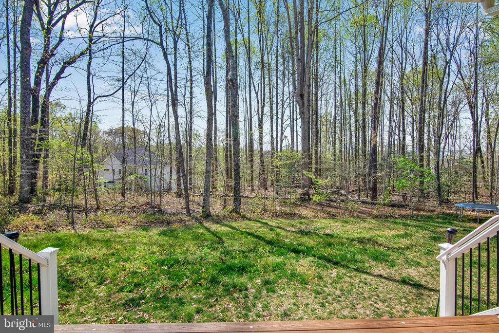 Back yard view from trex deck - 21 GLENVIEW CT, STAFFORD