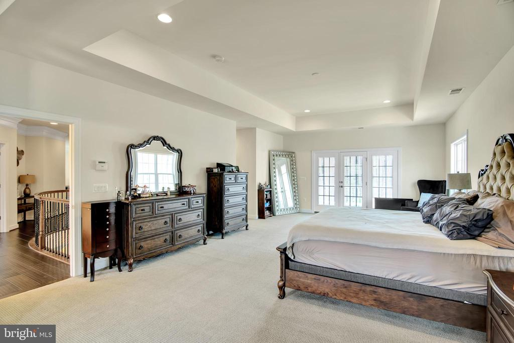 Master suite with tray ceiling - 21 GLENVIEW CT, STAFFORD