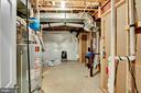 Basement unfinished area, its a blank canvas - 21 GLENVIEW CT, STAFFORD