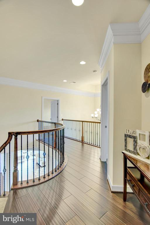 Cat wall leading to the oak curved staircase - 21 GLENVIEW CT, STAFFORD