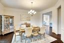 Formal dining room with 10 foot ceilings - 21 GLENVIEW CT, STAFFORD