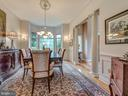 Formal dining room for family gatherings. - 7803 PICNIC WOODS RD, MIDDLETOWN