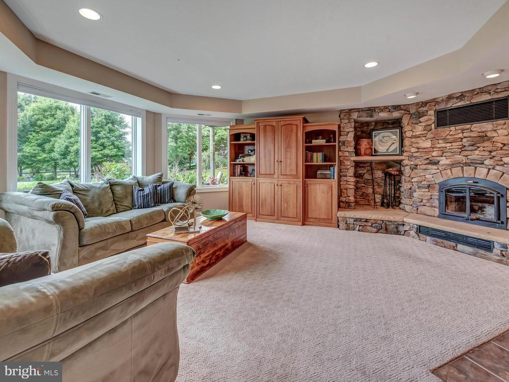 Basement leading to a sparkling pool! - 7803 PICNIC WOODS RD, MIDDLETOWN