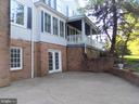 34 X 18 FOOT PATIO WITH BRICK GARDEN WALL - 6321 OLD CENTREVILLE RD, CENTREVILLE