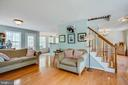 Beautiful hardwoods throughout family room - 15001 DOVEY RD, SPOTSYLVANIA