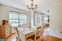 Formal dining room features hardwood floors - 15001 DOVEY RD, SPOTSYLVANIA