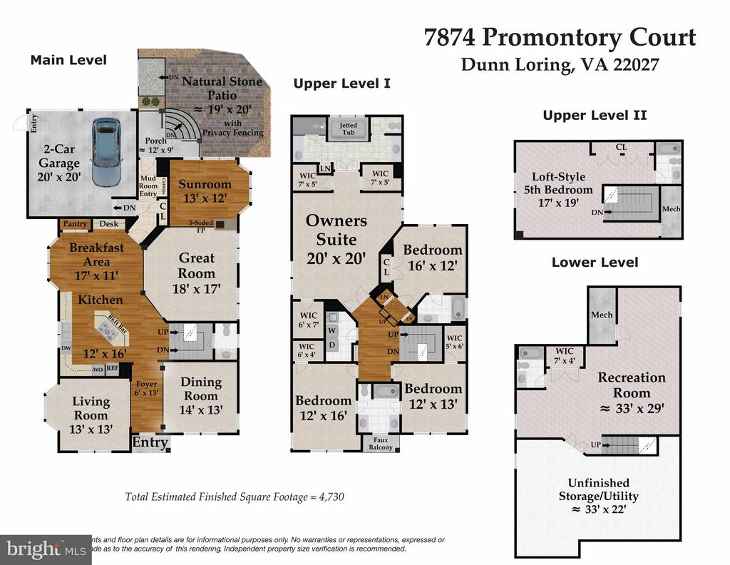 Floor Plans - 7874 PROMONTORY CT, DUNN LORING