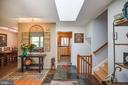 Inviting entry foyer with skylight - 11340 RAMBLING RD, GAITHERSBURG