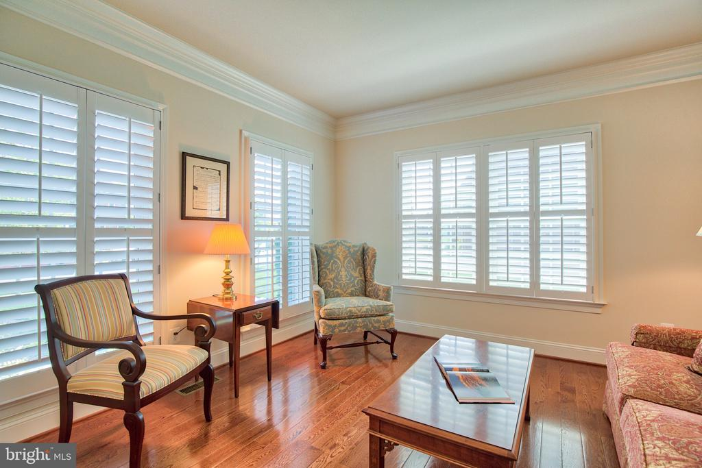 Living Room with  Plantation Shutters - 41656 REVIVAL DR, ASHBURN