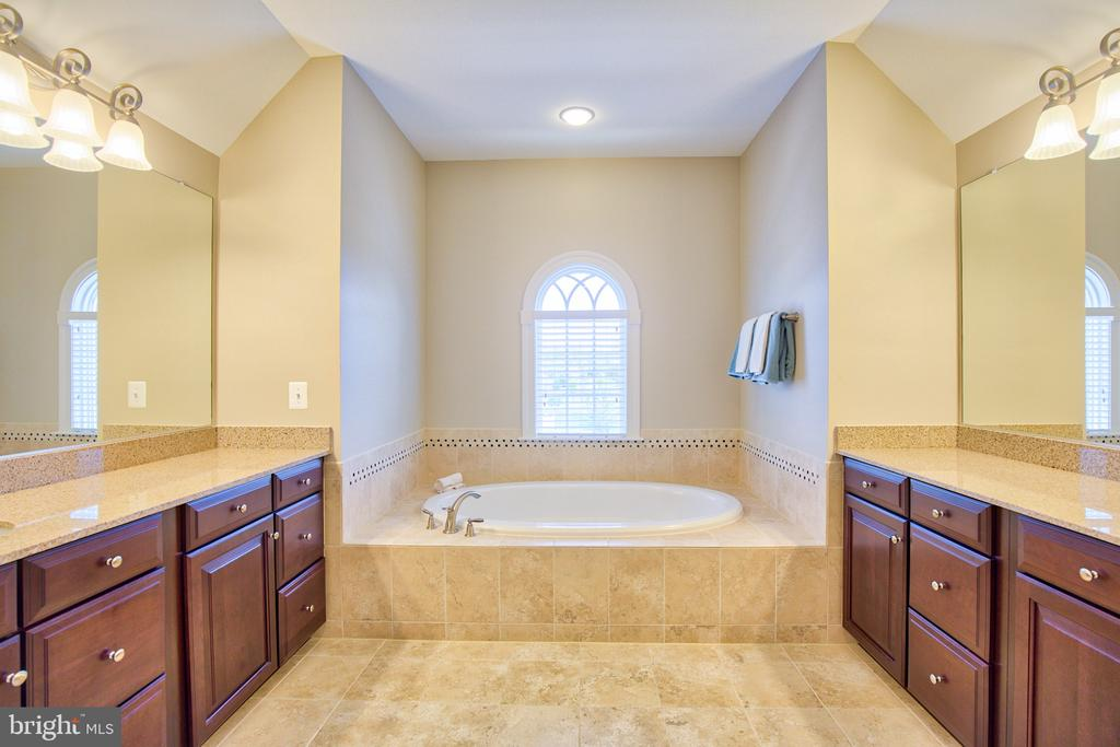 Master bath with double vanities - 41656 REVIVAL DR, ASHBURN