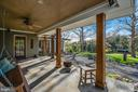 Welcoming porch overlooking pastures - 43470 EVANS POND RD, LEESBURG