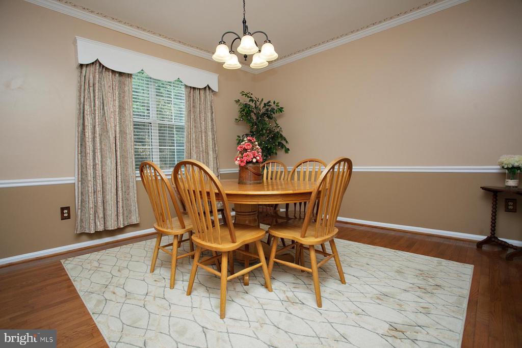 Formal Dining Room with hardwoods - 29 BLOSSOM WOOD CT, STAFFORD