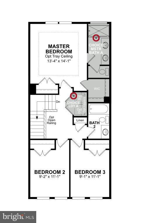 Upper  Level Floor Plan - 6658 AUDREY KAY CT, ALEXANDRIA
