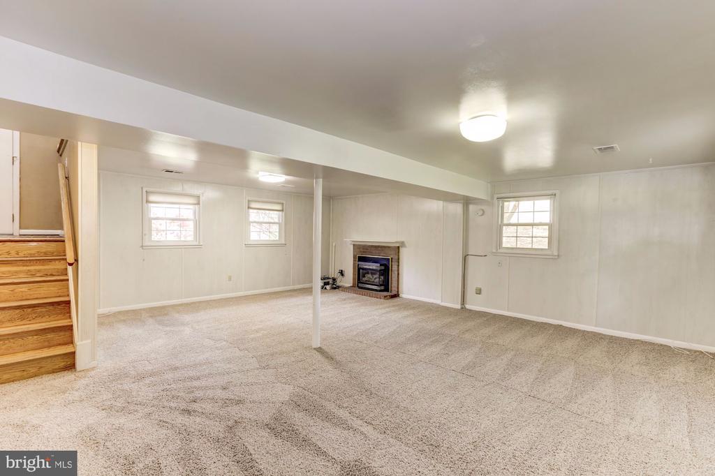 Lower level family room - 9505 FARMVIEW CT, FAIRFAX