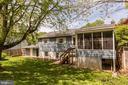 Rear of home - 9505 FARMVIEW CT, FAIRFAX