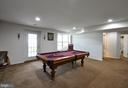 Spacious area for a game of pool - 61 CHAPS LN, FREDERICKSBURG