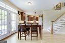 Breakfast area with exit to backyard. - 7318 EDMONSTON RD, COLLEGE PARK