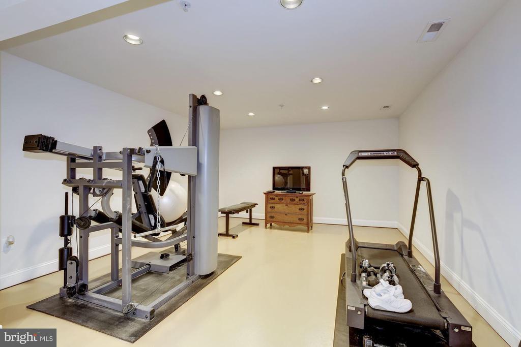Family room/exercise room - 7318 EDMONSTON RD, COLLEGE PARK