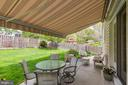 Backyard with retractable awning - 7318 EDMONSTON RD, COLLEGE PARK