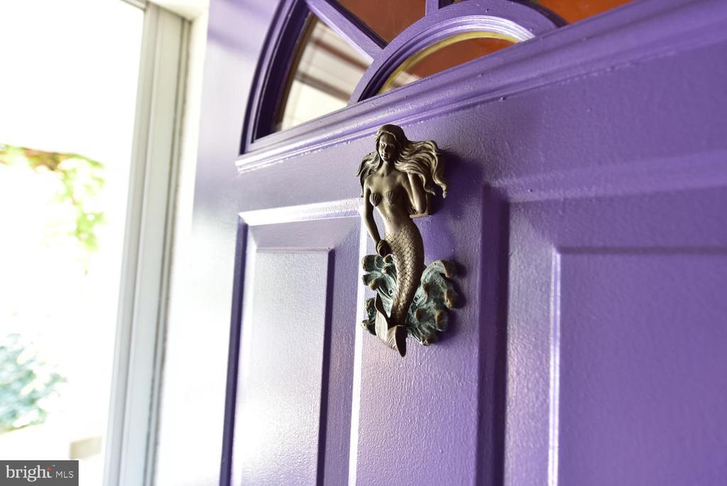 Unique door knocker & bright purple door - 210 LAVERNE AVE, ALEXANDRIA