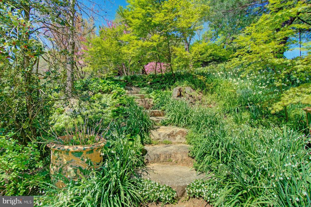 Stone steps to upper garden - 40174 MAIN ST, WATERFORD