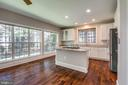 Kitchen has higher end appliances & granite - 47762 BRAWNER PL, STERLING