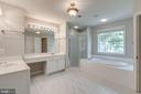 Master bath feels so serene - 47762 BRAWNER PL, STERLING