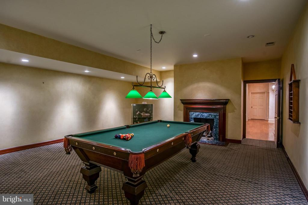 Basement level billiards room - 869 CHILDS POINT RD, ANNAPOLIS
