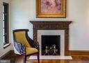 Master with oldest imported fireplace mantle - 869 CHILDS POINT RD, ANNAPOLIS