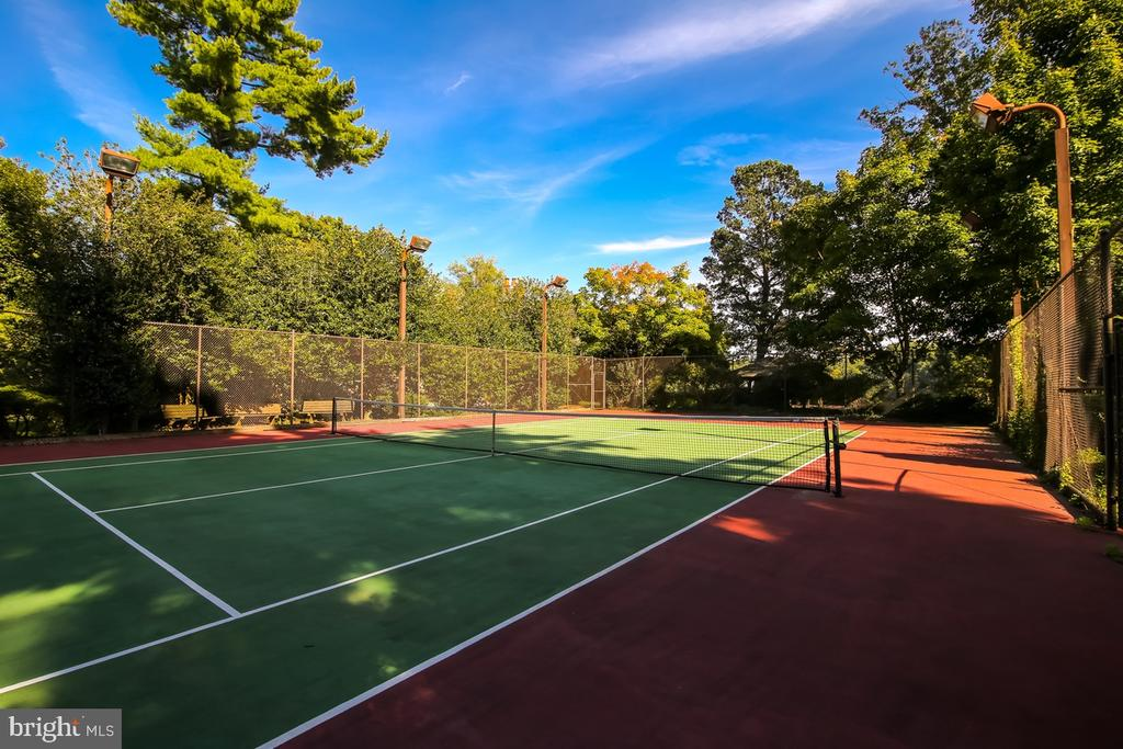 Tennis court with lights - 869 CHILDS POINT RD, ANNAPOLIS