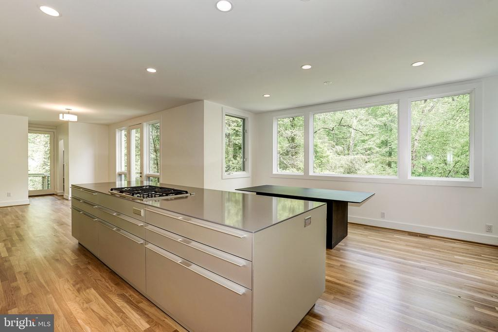 NEWLY RENOVATED Bolthaup Kitchen open to Family rm - 4101 LINNEAN AVE NW, WASHINGTON
