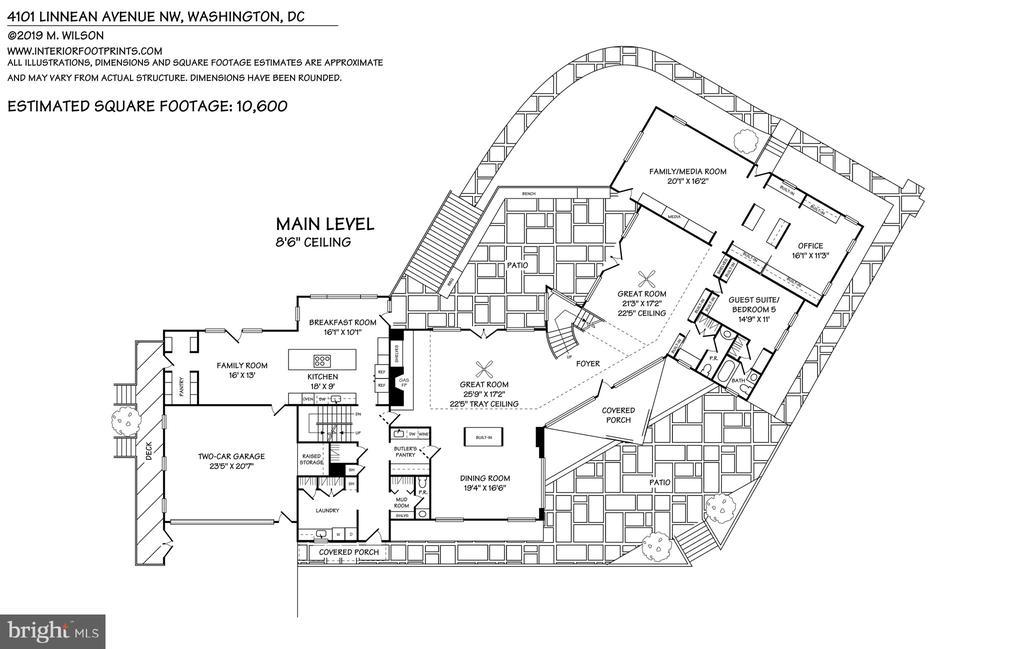 Main level floor plan - 4101 LINNEAN AVE NW, WASHINGTON