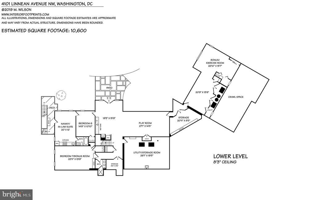 Lower level floor plan - 4101 LINNEAN AVE NW, WASHINGTON